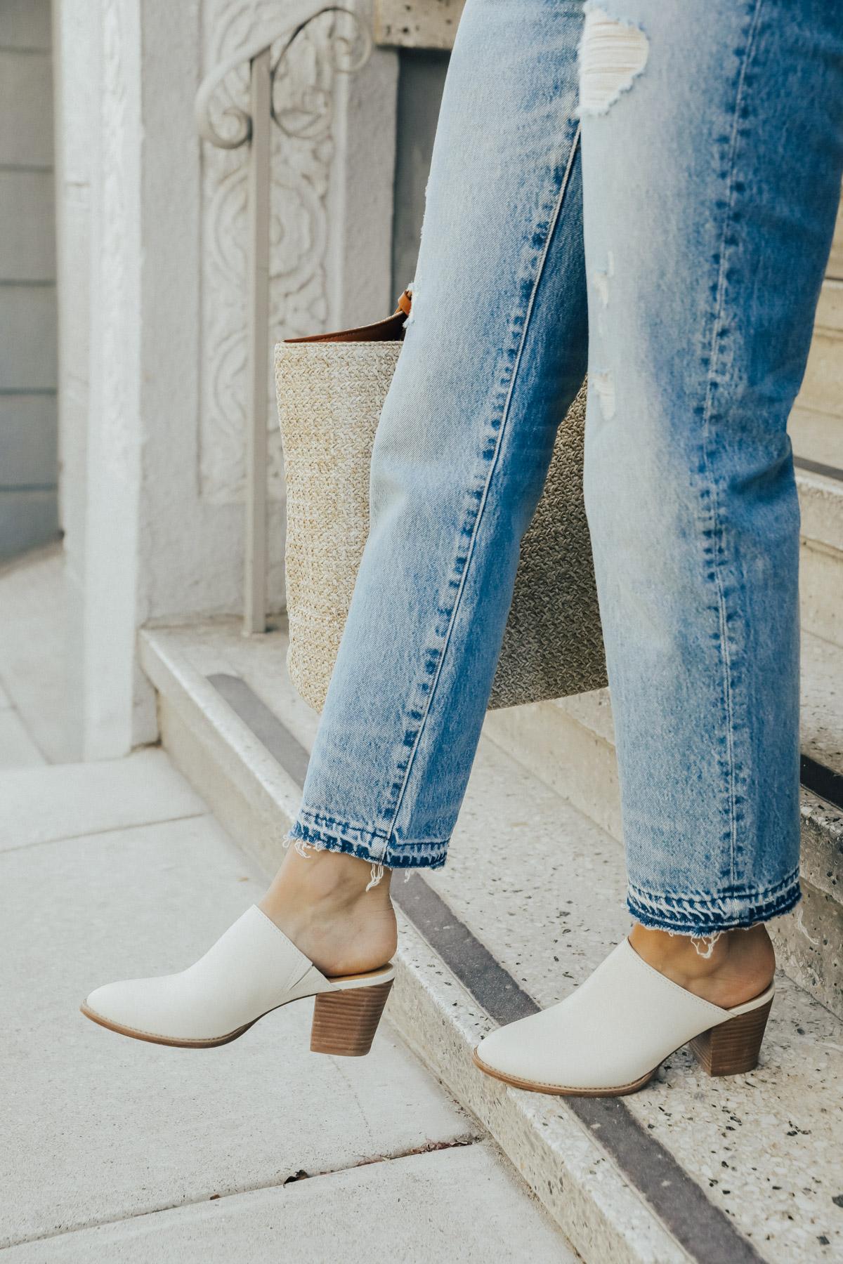 mules madewell y jeans vintage