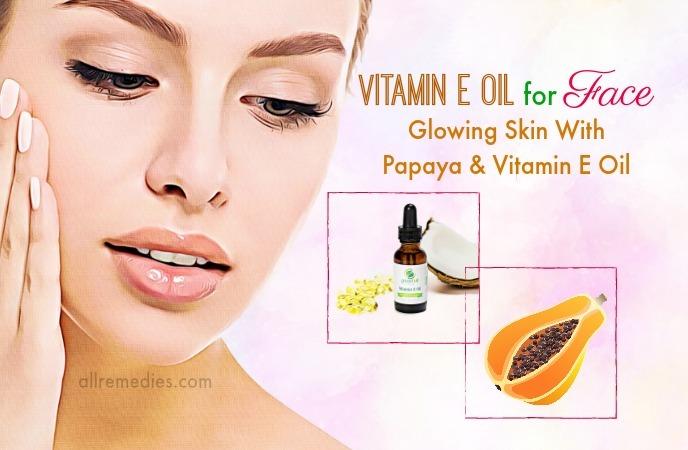 aceite de vitamina e para la cara