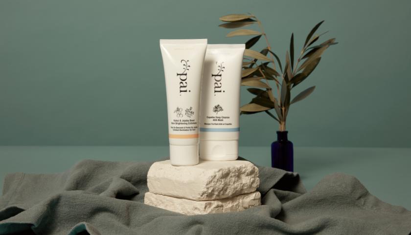 Pai Skincare Kukui & Jojoba Bead Skin Brightening Exfoliator y Copaiba Deep Cleanse AHA Mask