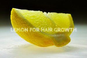 Limón para el crecimiento del cabello