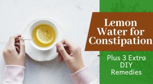 Agua de limón para el estreñimiento