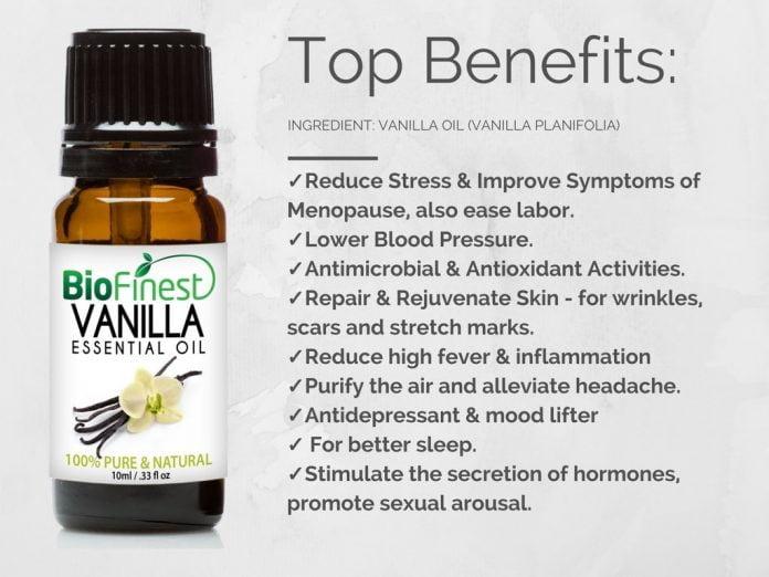 Beneficios del aceite esencial de vainilla