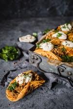 Chaffles de taco keto