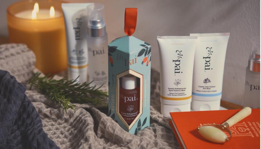 Pai Jade Roller Gift con juegos de regalo de tesoros naturales y mascarillas Pai Skincare