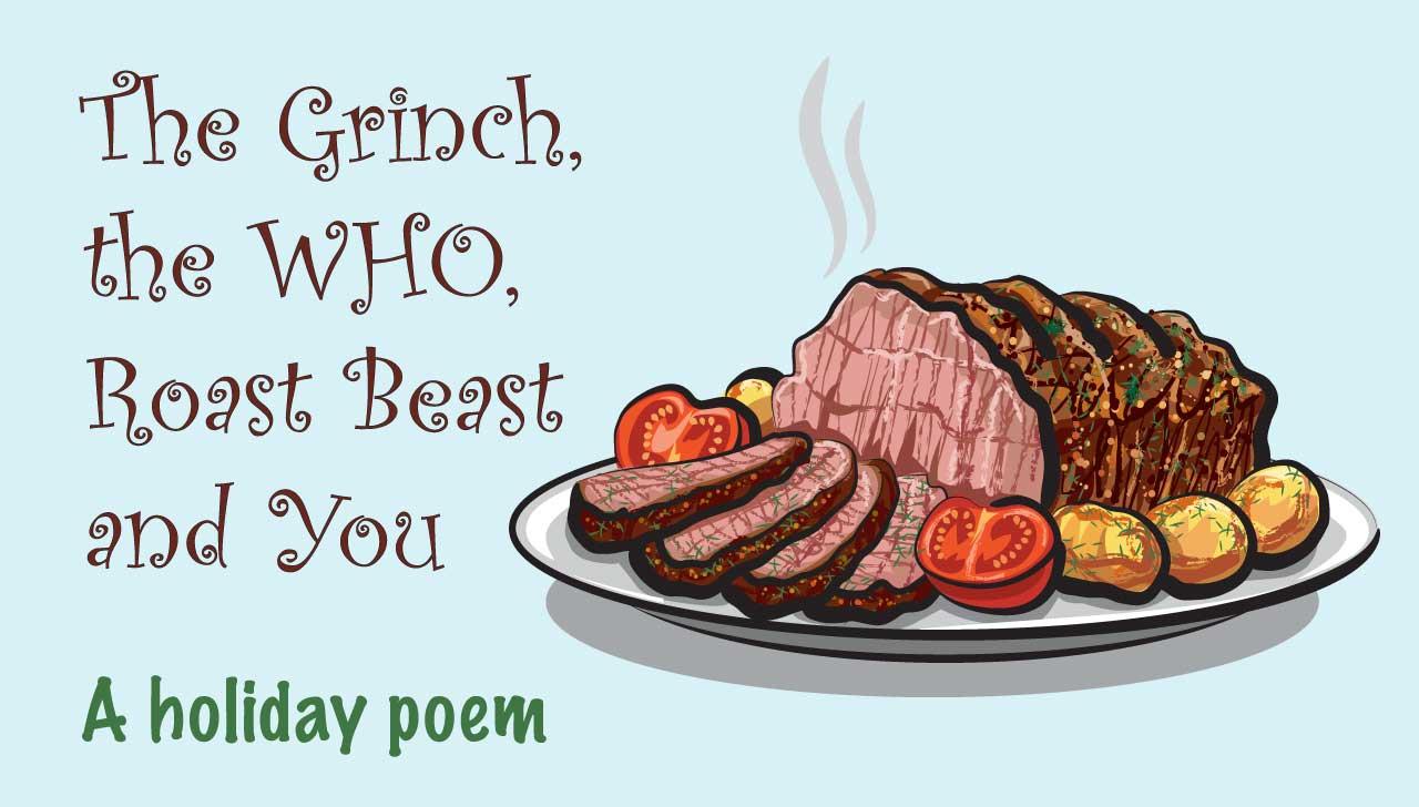 El Grinch, la OMS, la carne roja y el cáncer: un poema navideño