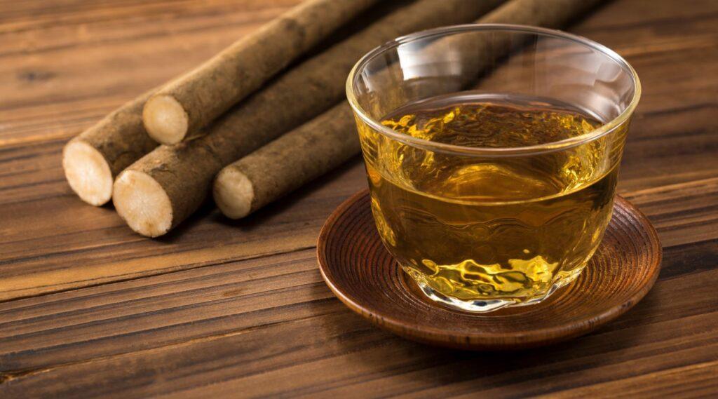 con qué frecuencia beber té de raíz de bardana