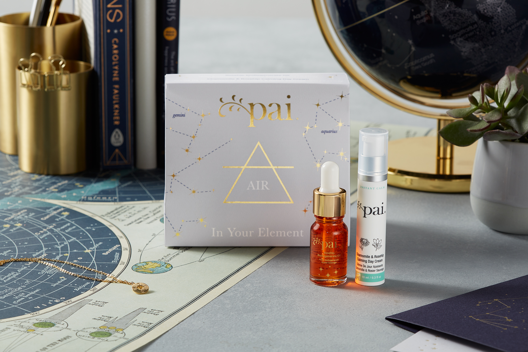 set de regalo de astrología para signos de aire