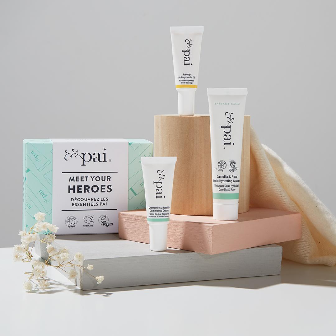 kit de prueba para el cuidado de la piel